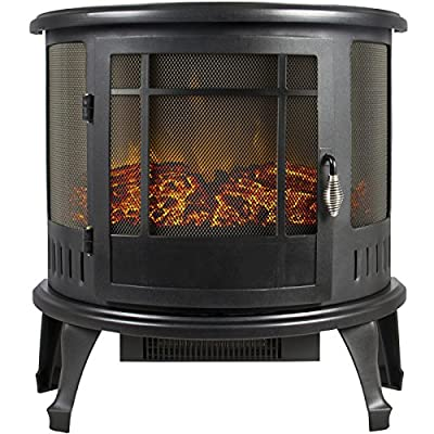 Portable Electric Fireplace Stove Heater Realistic Flame Corner Unit Modern - P2