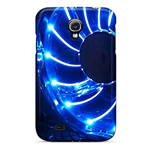 Excellent Galaxy S4 Case Tpu Cover Back Skin Protector Blue Fan