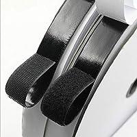 Vkey 3/4 Inch Self Adhesive Fastener 12M Rolls Hook Loop Tape Sticky Back Tape Black