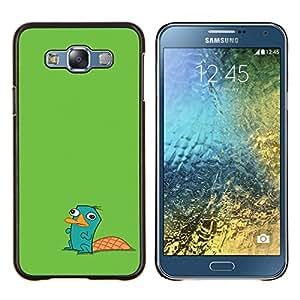 Stuss Case / Funda Carcasa protectora - Beaver verdes lindo dibujo de caracteres Niños - Samsung Galaxy E7 E700