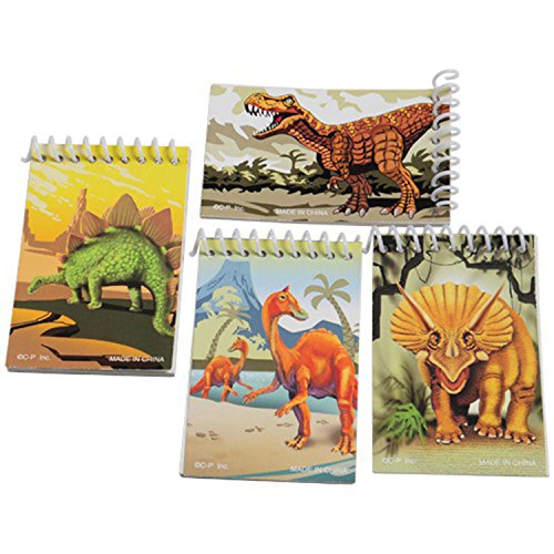 US Toy - Assorted Dinosaur Theme Mini Spiral Notebook Memo P