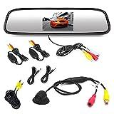 Pyle PLCM4370WIR Wireless Backup Camera & Rearview Mirror Monitor Parking Kit Waterproof Night Vision Cam ...