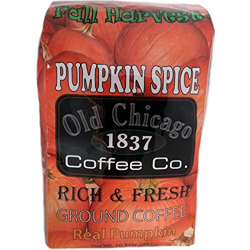 Pumpkin Spice Coffee - Thanksgiving Treats - Natually Flavored Ground Coffee - Real Pumpkin by Old Chicago Coffee
