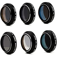 HOBBYTIGER Mavic Pro Accessories for DJI, Lens Filter ND ND/PL Set 6-Pack (Pass Gimbal Calibration)