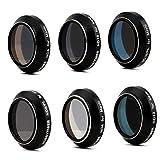 HOBBYTIGER DJI Mavic Pro Accessories, Lens Filter ND ND/PL Set 6-Pack (Pass Gimbal Calibration)