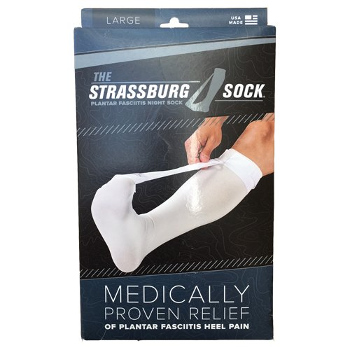 Strassburg Sock White Large (Fits Calf size 16-21 inches around) by The Strassburg Sock