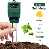 Seniorshop 3-in-1 Soil pH Meter, Moisture Meter, Light and PH acidity Tester, Plant Soil Tester Kit, Great For Garden, Farm, Lawn, Indoor & Outdoor
