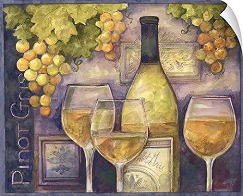 Susan Winget Wall Peel Wall Art Print entitled Pinot Gris - Work Pinot Gris Wine