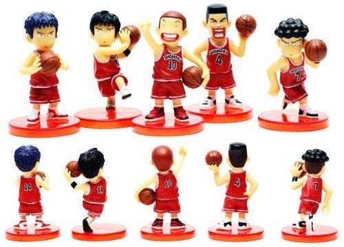 (New 5 pcs x SLAM DUNK Sakuragi 6cm Mini PVC figures Set Brand Toy )