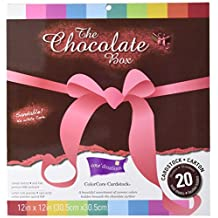 Darice Core'dinations Chocolate Box Cardstock Asst 12-Inches, by-12-Inches 20-Pack