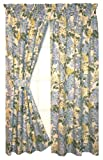 Hydrangea Floral Print Tailored Panels Curtains Pair 68-Inch-by-72-Inch