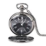 VGEBY Reloj análogo de la Cadena del Collar del Reloj del Bolsillo de los números del Cuarzo del Vintage