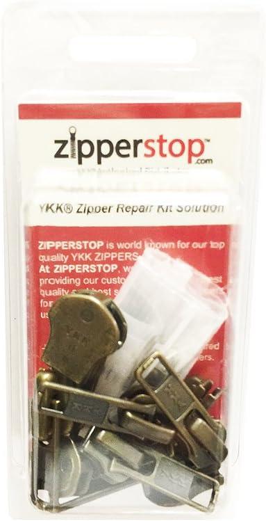 Black YKK #4.5 Coil Auto Slider Zipper Repair Solution 3 Sliders // Pack