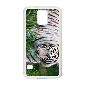 White Tiger Hight Quality Plastic Case for Samsung Galaxy S5 by Maris's Diary