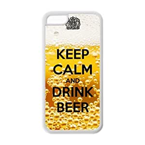 Custom Beer Design Rubber TPU Case for Iphone 5C