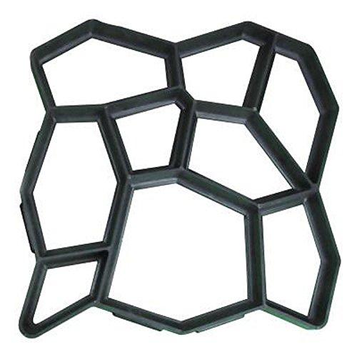 Cheap  YASHALY Plastic DIY Path Maker Brick Mold Cassaforma Pavimentazione Manualmente Cement (43.5x43.5x4.0cm)