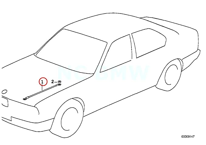 amazon bmw genuine earth strap for engine hood automotive BMW E46 M3