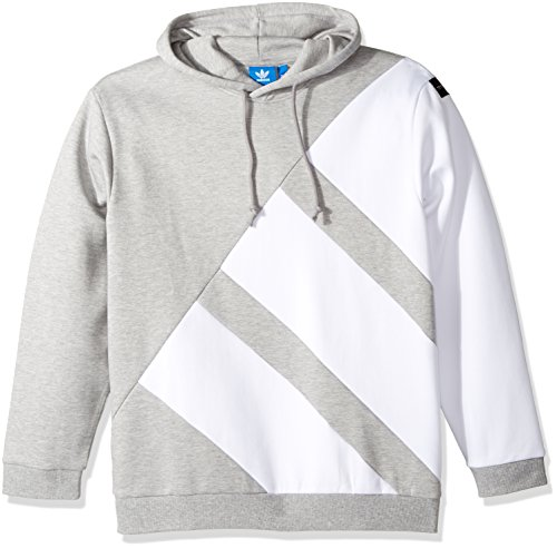 adidas Originals Men's Originals Pdx Hoodie, Medium Grey Heather/White, S