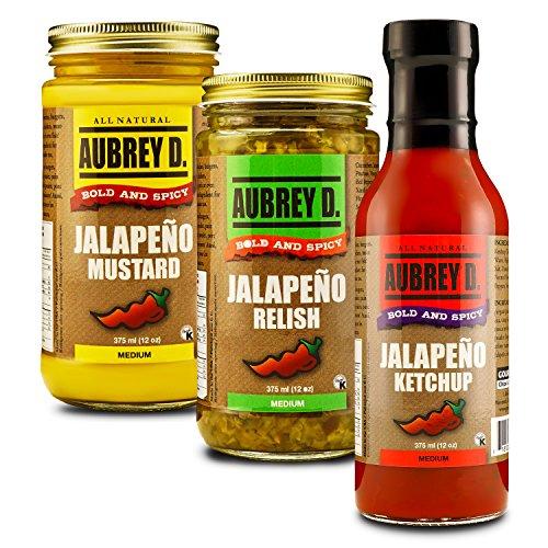 Aubrey D. Jalapeno Mustard Ketchup Relish, 12 Ounce