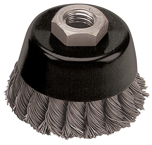 Pearl Abrasive CLWBK658S Knot Cup Wire Brush with Stainless Wire 6 x .020 x 5/8-11 ()