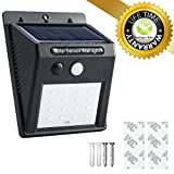Easy to Install Solar Powered Lamp - 16LED -> 270Lm - PIR Wall/Step Ligth - Outdoor IP65 Waterproof - Security Lighting for Patio, Garden, Garage, Porch, Yard by Ecologic Mart