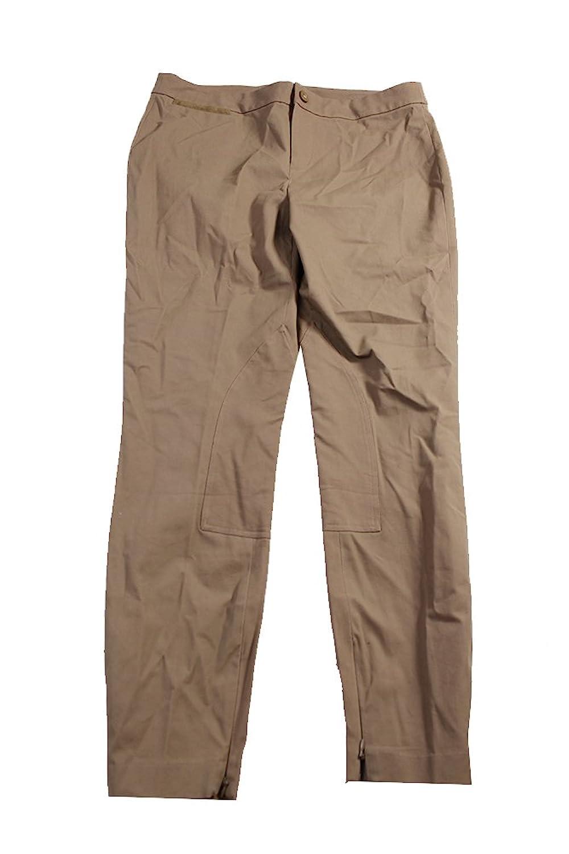 Lauren Ralph Lauren Taupe Women's Slim-Fit Pants