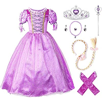 JerrisApparel Flower Girls Dress Princess Party Dress Costume: Clothing