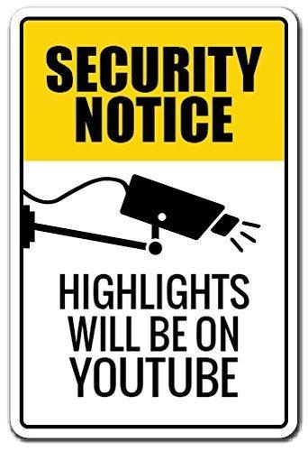 Novedad señal de aviso de seguridad de regalo, Highlights ...