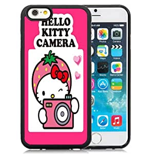 Beautiful Custom Designed Cover Case For iPhone 6 4.7 Inch TPU With Hello Kitty Camera Phone Case