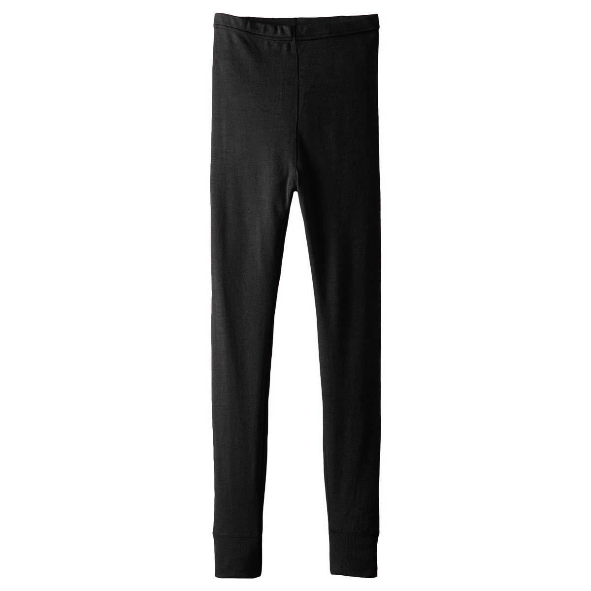 Minus33 Merino Wool Clothing Boys T-Rex Midweight Wool Bottom, Black, Large