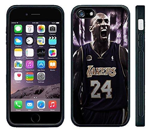 Apple iPhone 6 Black Rubber Silicone Case - Kobe Bryant 24 Lakers Kobe Yelling