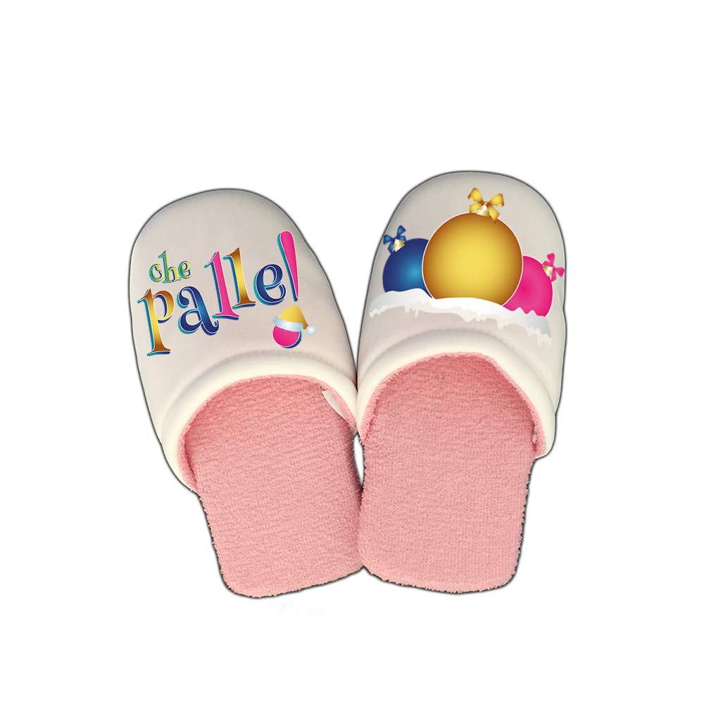 Altra Marca Pantofole Natalizie Personalizzate Che Palle Ciabatte per Uomo e Donna