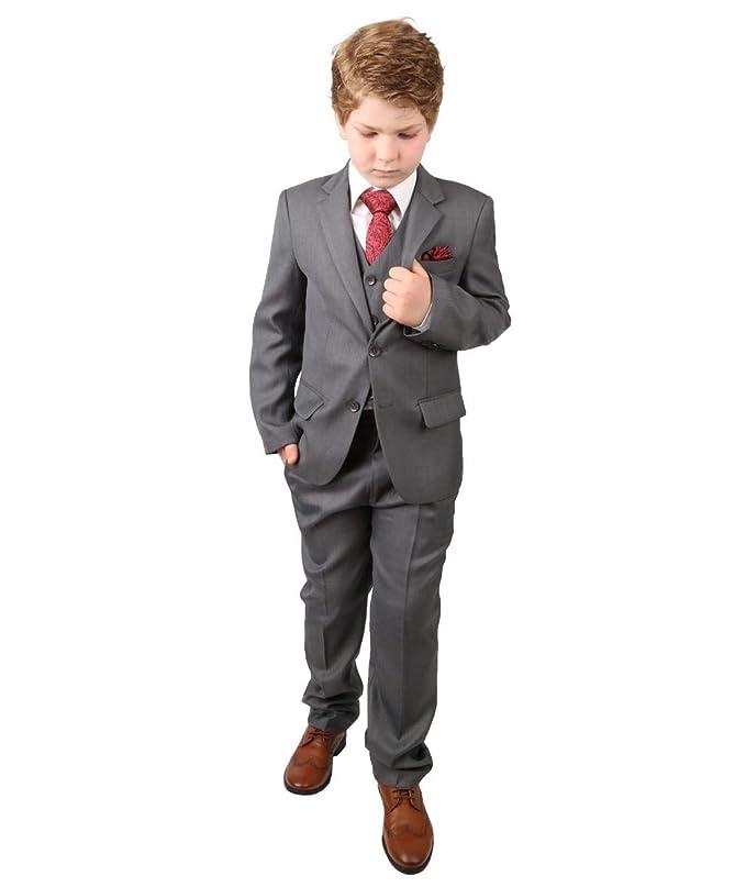 SIRRI Diseño Italiano Trajes niños en Gris, Todo en uno Formal página Boy Traje de Boda para comunión