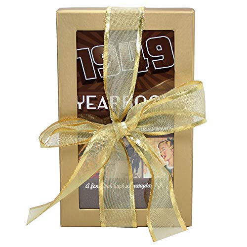 70th Birthday Gift Basket Box - Live Your Life - with 1949 Trivia Booklet