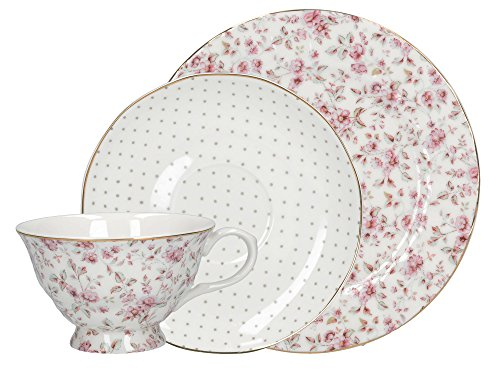 Katie Alice Afternoon Tea Set Pretty White Ditsy Floral (Gift Boxed) #CUP3744