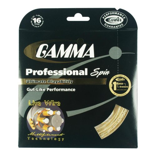 Gamma Live Wire Professional Spin 16G Tennis String, Natural