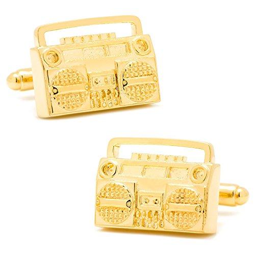 Gold Retro Boombox Cufflinks (Gold Boombox)