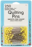 Collins COL101 250 Piece Quilting Pins Yellow Head, 1.75''