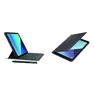 Samsung Galaxy Tab S3 9.7-Inch, 32GB Tablet (Black, SM-T820NZKAXAR) + Samsung EF-BT820PBEGUJ Tab S3 Cover, Black