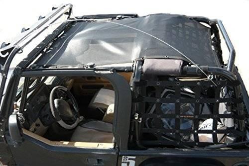 Top 2000 2003 (Dirty Dog 1997-2006 Jeep Wrangler TJ Sun Screen Safari Top Black T2SS97SABK)