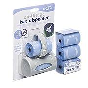 Ubbi On The Go Lavender Scented Gray Bag Dispenser andWaste Disposal BagsRefillBaby GiftSet