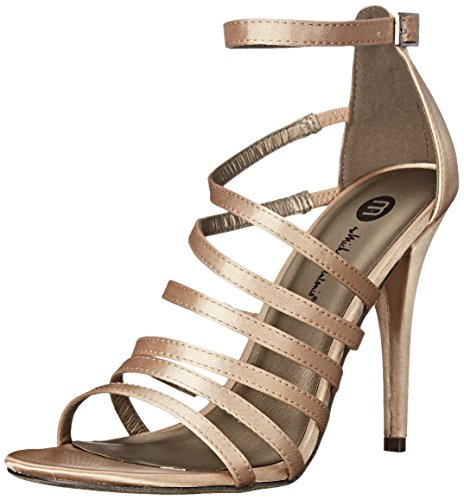 Michael Antonio Women's Eve Sat Dress Sandal, Champagne, 10 M US