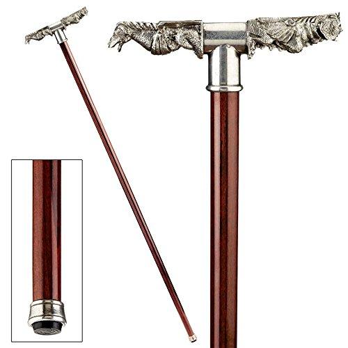 Design Toscano Gargoyle Rainspout Pewter Walking Stick