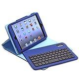 Aduro FACIO Folio Case with Bluetooth Removable Keyboard for Apple iPad (Retail Packaging) (iPad Mini (Retina), Blue/Turquoise)