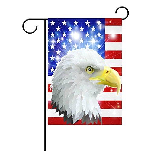 LIDU Duble Sided American Eagle Flag Stars On Star Free U.S.