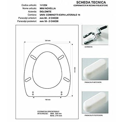 Ceramica Dolomite Novella Mini.Acb Colbam Copriwater In Legno Rivestito Di Poliestere Per Dolomite