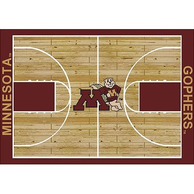 NCAA Court Novelty Rug Rug Size: 5'4