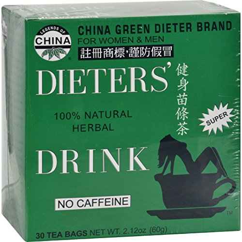 (Uncle Lees China Green Dieters Tea Caffeine Free - Natural and Herbal - 30 Tea Bags (Pack of 4))