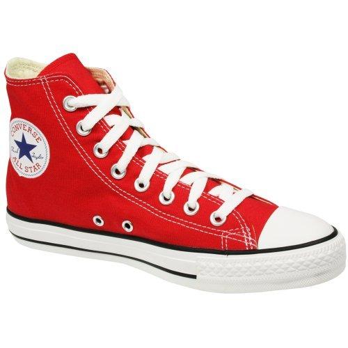 Mens Converse All Star Hi Top Chuck Taylor Chucks Sneaker Trainer - Red - (Chuck Taylor Trainer)
