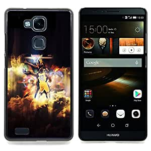 - Bryant 24 Basket - - Cubierta del caso de impacto con el patr??n Art Designs FOR HUAWEI Ascend Mate 7 Queen Pattern